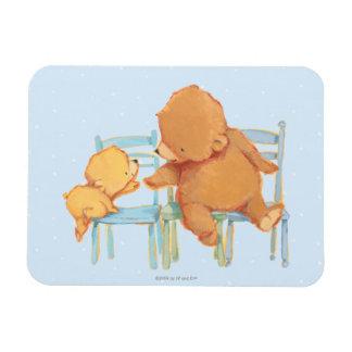 Big Brown Bear Helps Little Yellow Bear Rectangular Photo Magnet