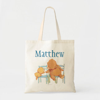 Big Brown Bear Helps Little Yellow Bear Tote Bag