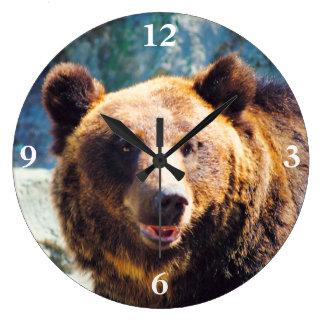 Big Brown Bear Large Clock