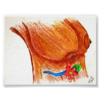 Big Brown Breasts Painting Poster