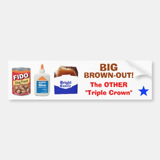 BIG BROWN-OUT! BUMPER STICKERS