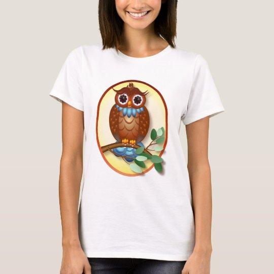 Big Brown Owl  Oval Shirt