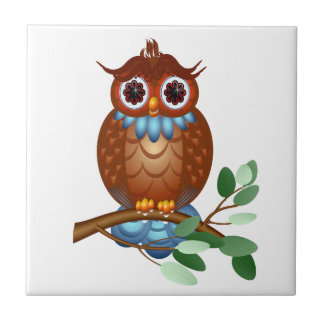 Big Brown Owl  Tile-Trivet Tile