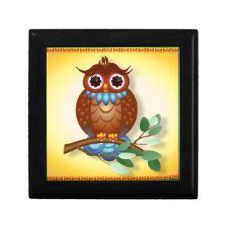 Big Brown Owl  Tiles-Trivets Gift Box