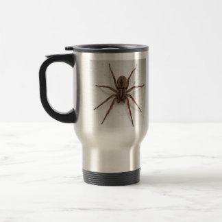 big brown scarygothic looking spider travel mug