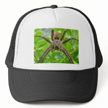 Halloween Themed Big Brown Spider Trucker Hat