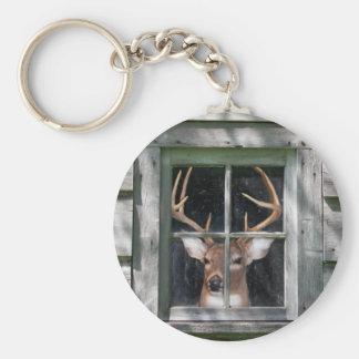 Big Buck Basic Round Button Keychain