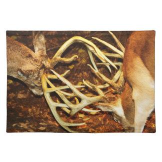 Big Buck Battle Placemat Cloth Place Mat