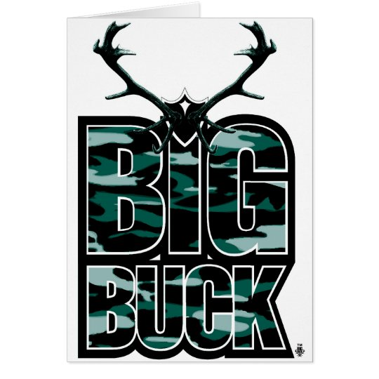 Big Buck Camo Card