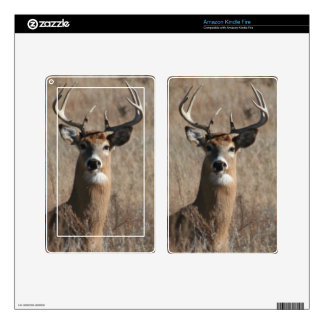 Big Buck Deer in Tall Grass Camo Kindle Fire Skin
