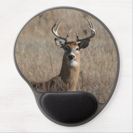 Big Buck Deer in Tall Grass Camo Mouse Pad Gel Mouse Pad