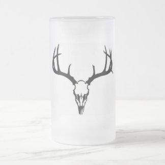 Big Buck Frosted Glass Beer Mug
