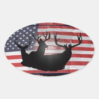 Big bucks and Old Glory Sticker