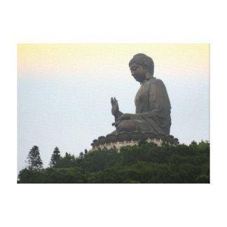 Big buddha in Hong Kong Canvas Print