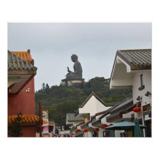 "Big Buddha Lantau Island 20""x16"" Photo Print"