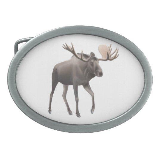 Big Bull Moose Belt Buckle