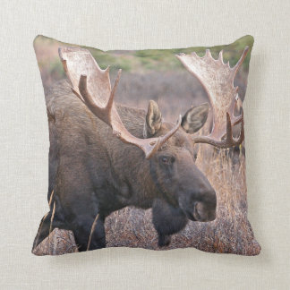 Big Bull Moose Throw Pillow