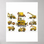 Big Bulldozer Construction Equipment Poster Print