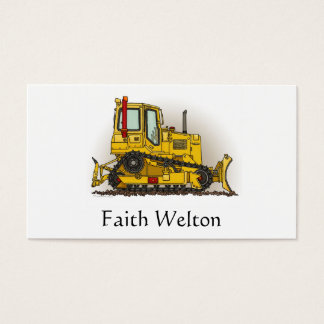 Big Bulldozer Dozer Business Card