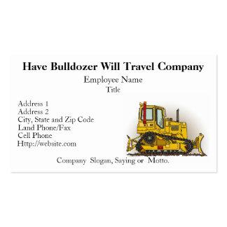 Big Bulldozer Dozer Business Cards