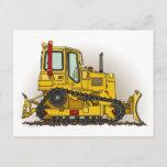 Big Bulldozer Dozer Post Card