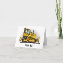 Big Bulldozer Dozer Thank You Card