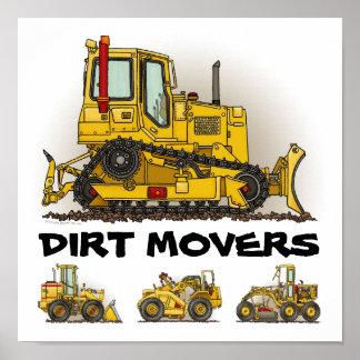 Big Bulldozer Dozers Dirt Movers Poster Print