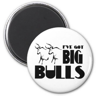Big Bulls - Funny Farmer 2 Inch Round Magnet