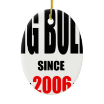 BIG BULLY school since 2000 back learn homework re Ceramic Ornament