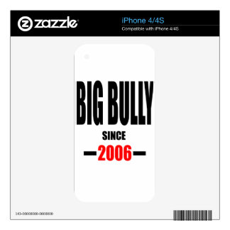 BIG BULLY school since 2000 back learn homework re Decal For The iPhone 4S