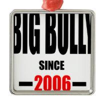 BIG BULLY school since 2000 back learn homework re Metal Ornament