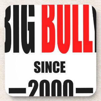 BIG BULLY school since 2000 back learn homework te Drink Coaster