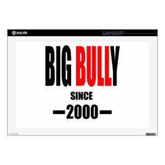BIG BULLY school since 2000 back learn homework te Laptop Skin
