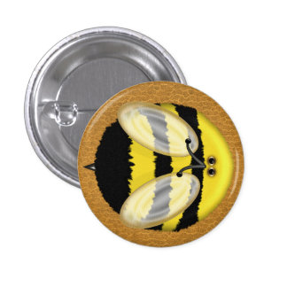 Big Bumble Bee Pinback Buttons