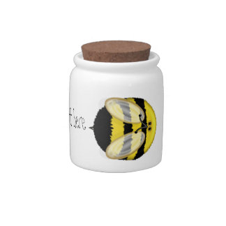Big Bumble Bee Personalized Small Candy Jar