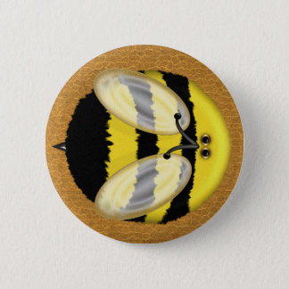 Big Bumble Bee Pinback Button