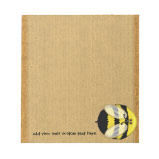 Big Bumble Bee Small Custom Notepad