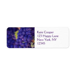 Big Bunch of Juicy Purple Grapes Label