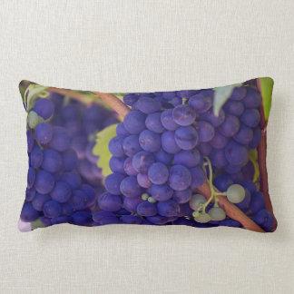 Big Bunch of Juicy Purple Grapes Lumbar Pillow