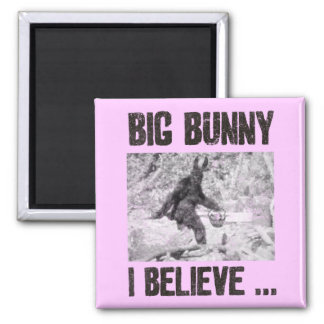 Big Bunny 2 Inch Square Magnet
