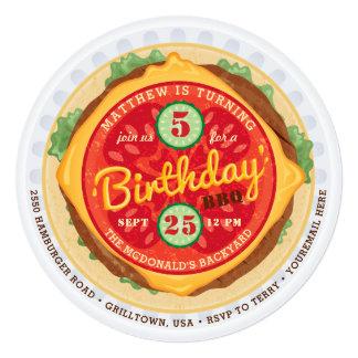 Big Burger Birthday Invitation
