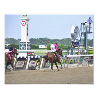Big Business crossing the Finish Line Photographic Print
