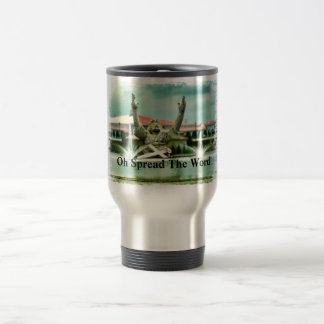 """Big Butter Jesus, """"Oh Spread The Word!"""" 15 Oz Stainless Steel Travel Mug"""