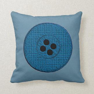 Big Buttons (blue) Pillow