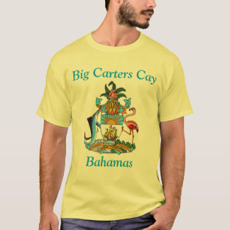 Big Carters Cay, Bahamas with Coat of Arms T-Shirt