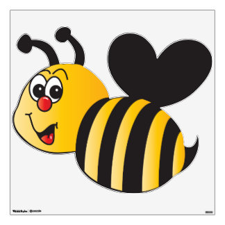 Big Cartoon Bumble Bee Wall Sticker