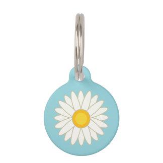 Big Cartoon Daisy Flower With Custom Info Pet Tag