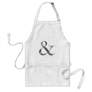 Big Caslon Medium Black Letterpress Grain Adult Apron