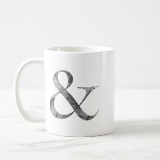 Big Caslon Medium Black Letterpress Grain Coffee Mug