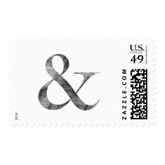 Big Caslon Medium Black Letterpress Grain Postage